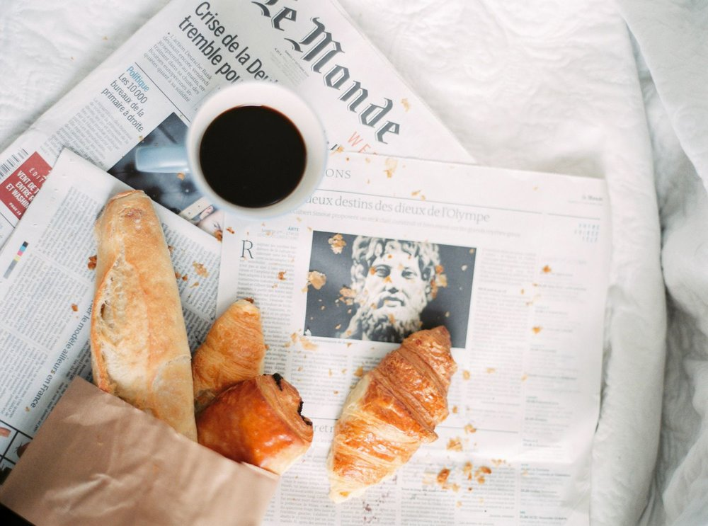 Parisian breakfast photo