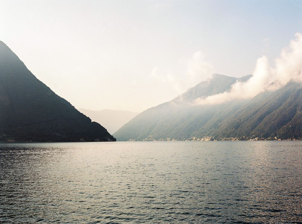 Sunrise over Lake Como