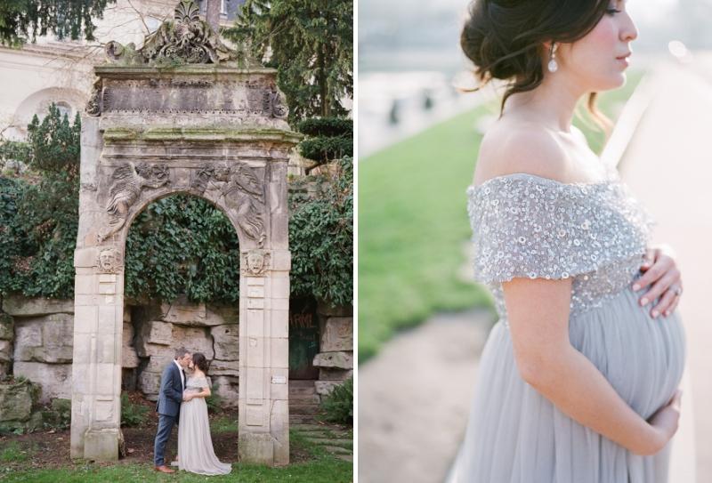 romantic couple photo session in Paris