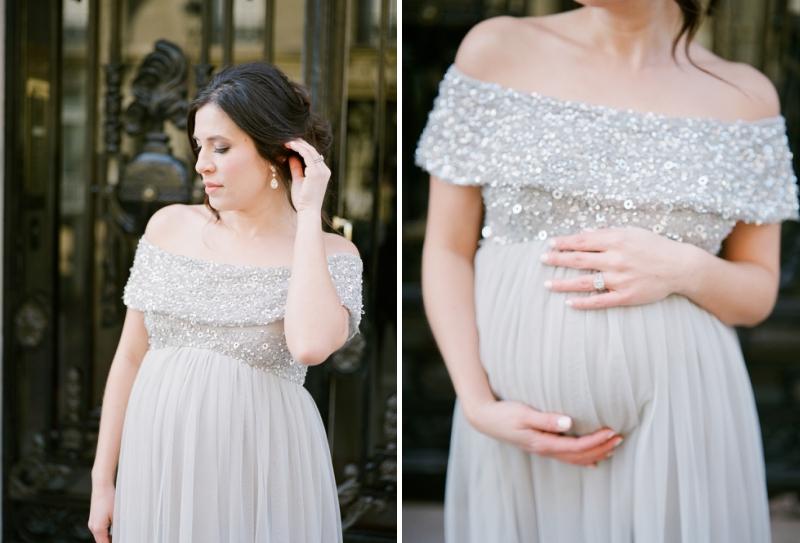 Romantic maternity dress