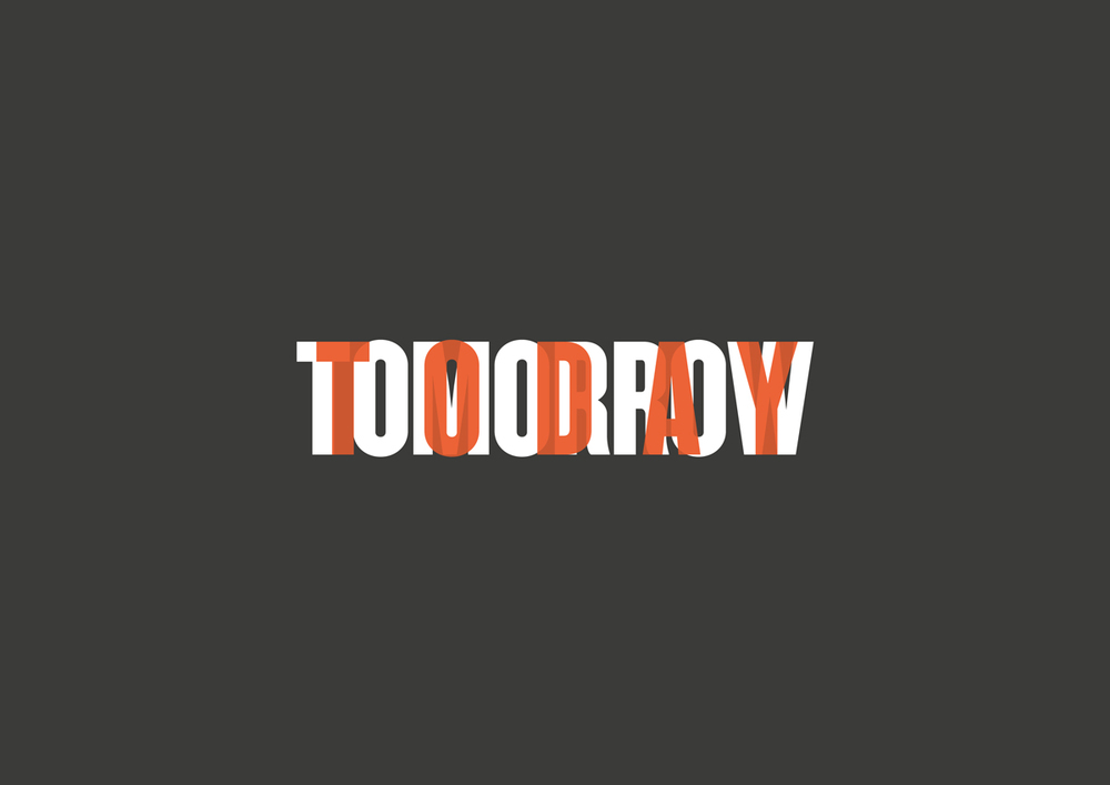 Logo  Tomorrow Today , curated by_vienna 2015. Design: MVD, Wien.