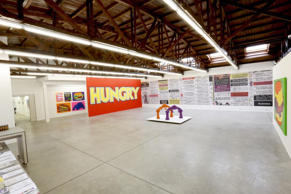 Hilger NEXT, Ausstellungsansicht, Cameron Platter,  Hungry, Hungry , 2015. Foto: Katharina Stögmüller.