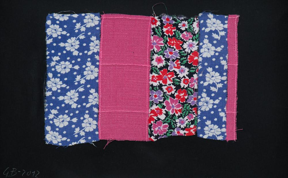 Geta Bratescu, Le Lambeau, 2012. Textile on paper,23 x 34,5 cm.