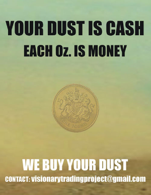 Alfadir Luna & Antonio Vega Macotela,  Your Dust is Cash,  2011. Poster, 120 x 90 cm.