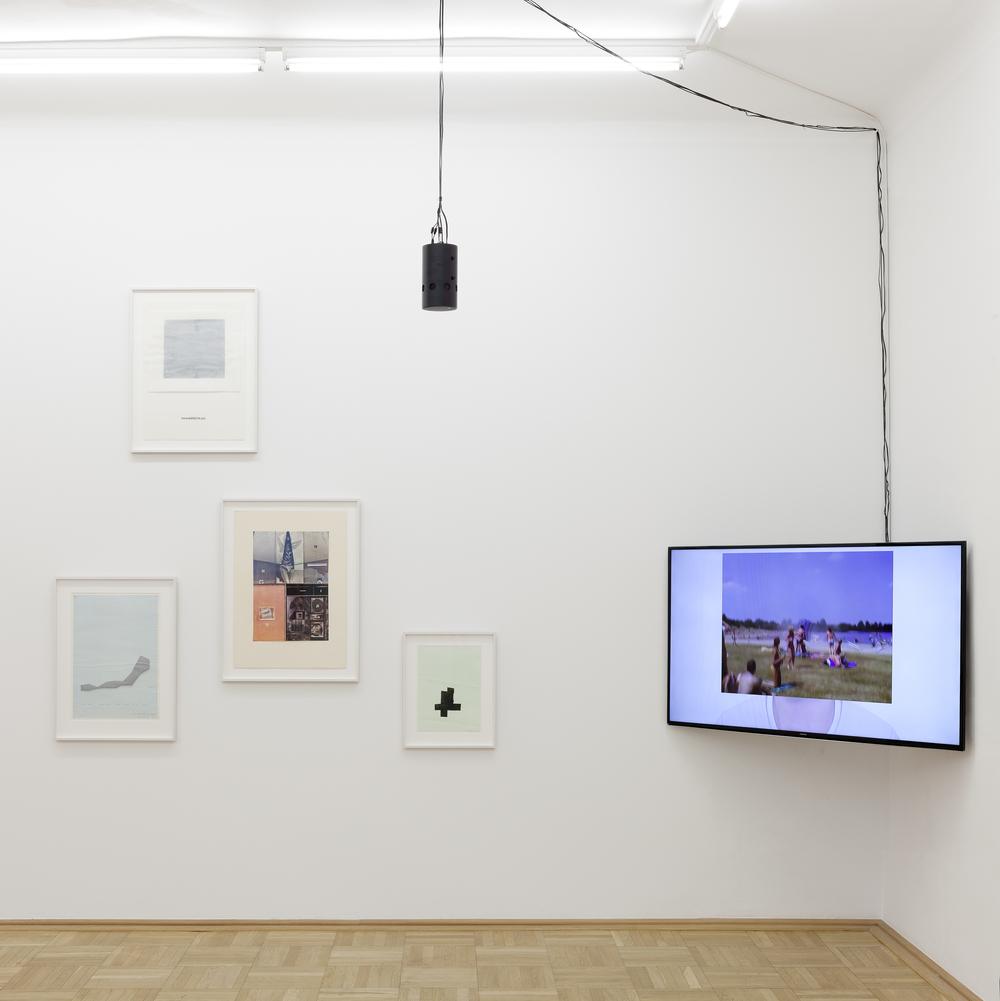 Galerie Nächst St. Stephan Rosemarie Schwarzwälder, Ausstellungsansicht  Produktion, 2015.Foto: Markus Wörgötter.