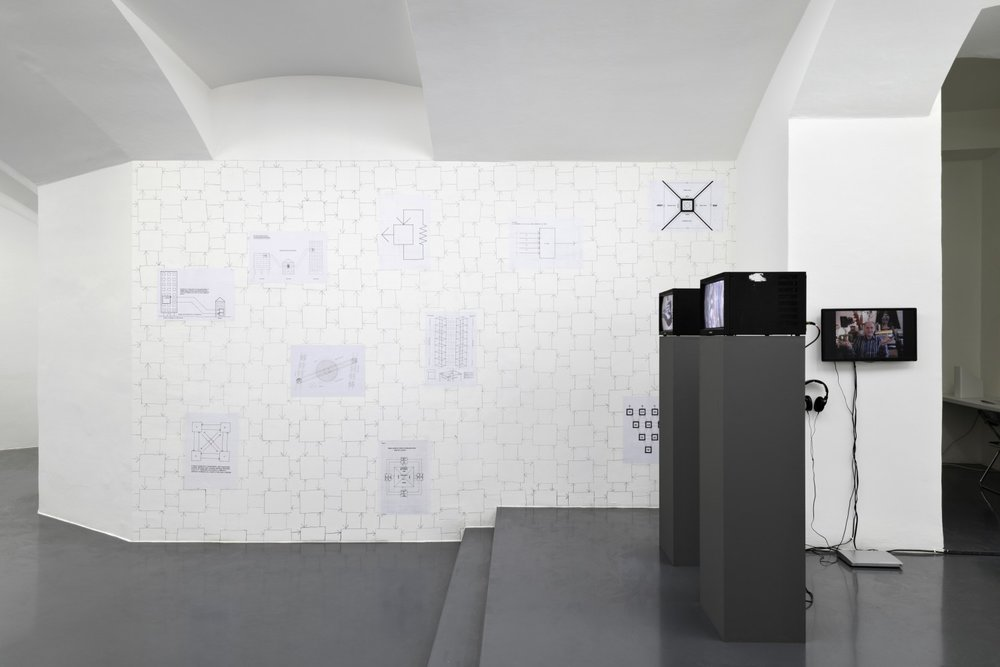 Stephen Willats, Wall drawing with diagram Posters, Discussion with Catherine Chevalier about Berlin Local at MD72, Video, 21:00
