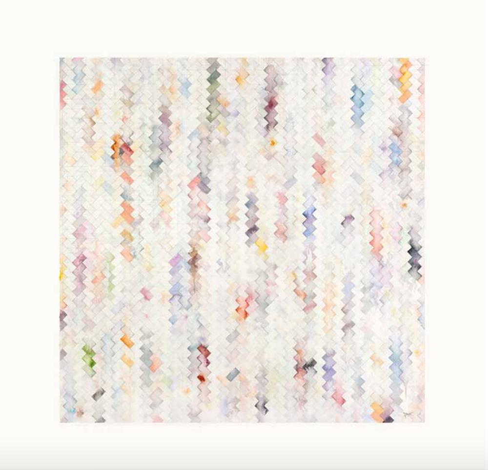 Spinnig on an Axis, curated by_Basak Senova & Stephane Ackermann, Benji Boyadgian, Expunged praxis, 2013 Aus der Serie A Journey into Abstrabesque, 2013, Wasserfarbe auf Papier, 75 ×75 cm