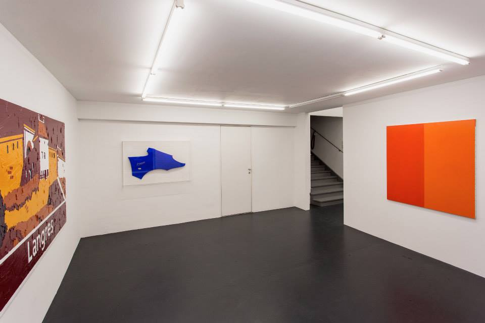 Exhibition View, Galerie Steinek, Die Malerei nach Bertrand Lavier, curated by_Caroline Smulders, 2013, Photo: Klaus Vyhnalek