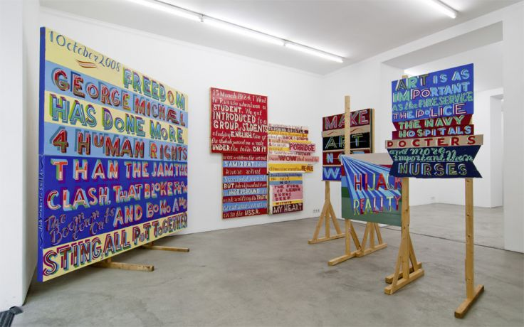 Exhibition View, Gabriele Senn Galerie, Prinzip Baustelle, curated by_Margrit Brehm, 2012, Photo: Gabriele Senn Galerie