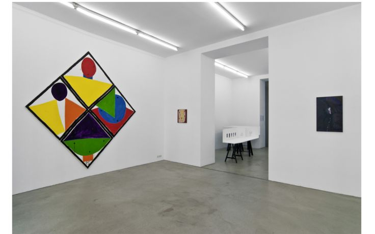 Exhibition View, Gabriele Senn Galerie, Die unsichtbaren Vier, curated by_Roberto Ohrt, 2011, Photo: Gabriele Senn Galerie