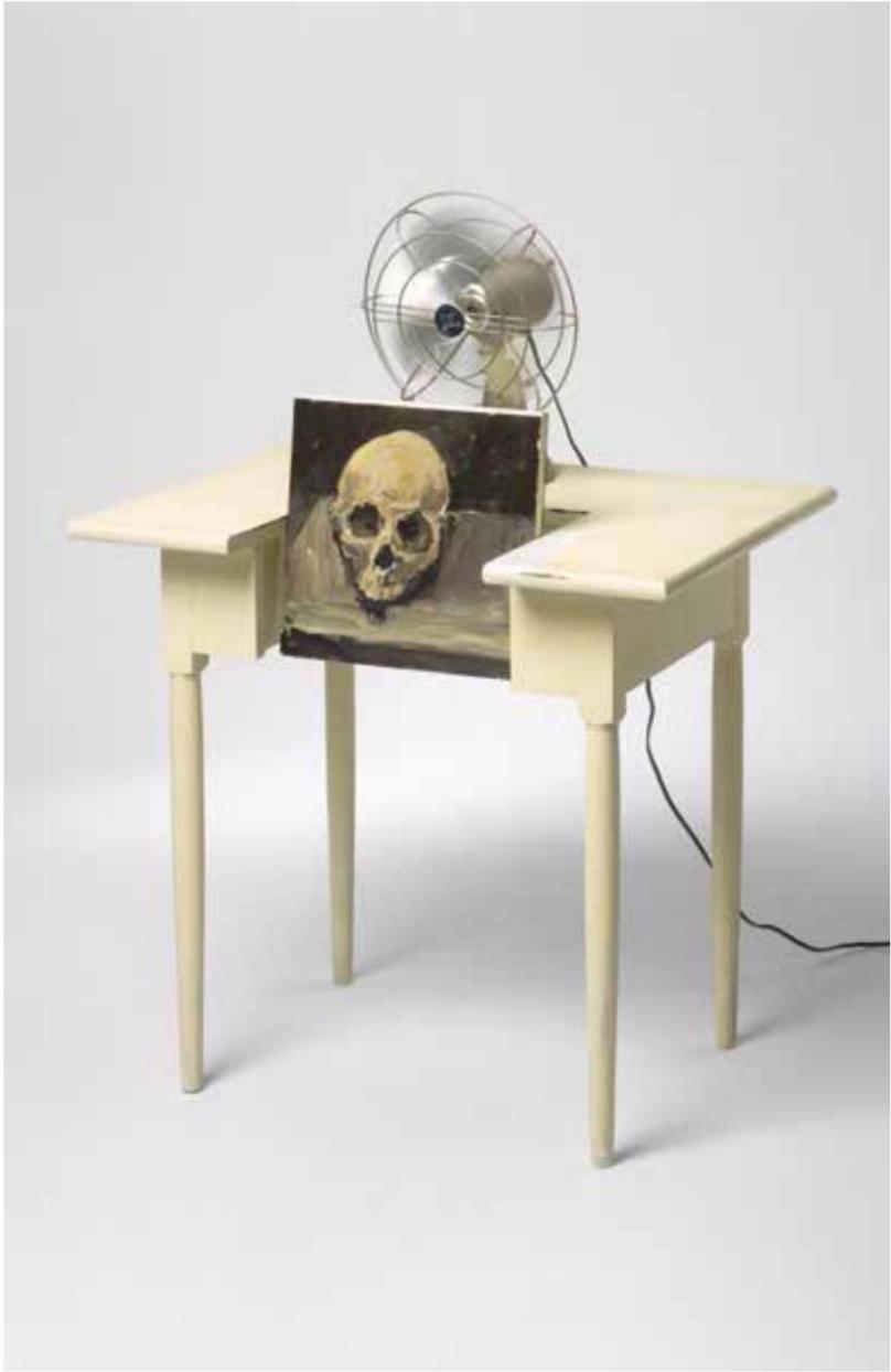Galerie Ernst Hilger, Kondensierte Zeiten und implodierende Welten, curated by_Jeanette Zwingenberger, 2015, Anton Henning, The answer (my friend), 2006