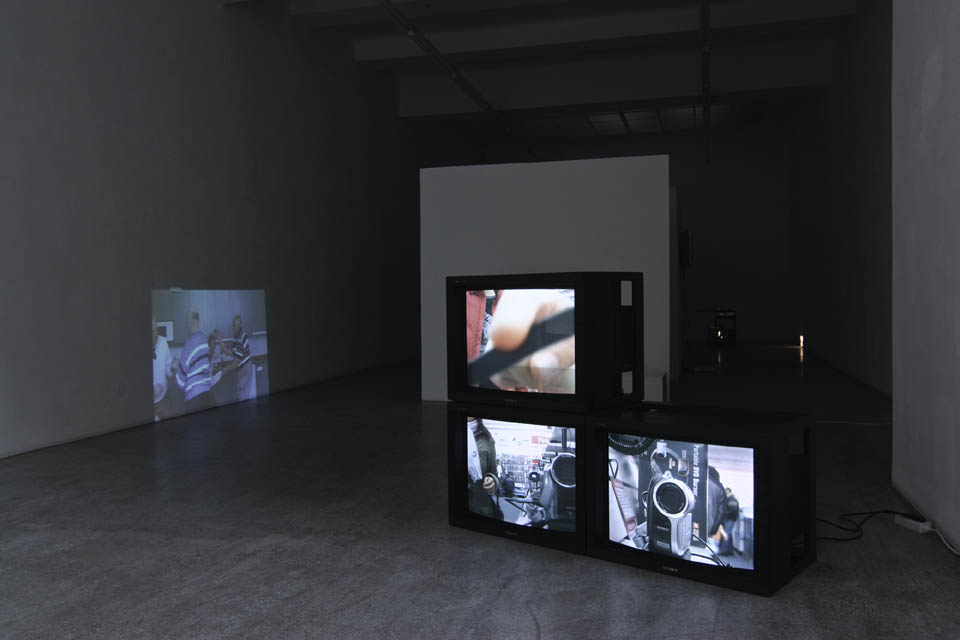 Exhibition View, Kerstin Engholm Galerie, Kino Eye moves time backwards (Dziga Vertov), curated by_Anna Jermolaewa, 2010, Photo: Kerstin Engholm Galerie