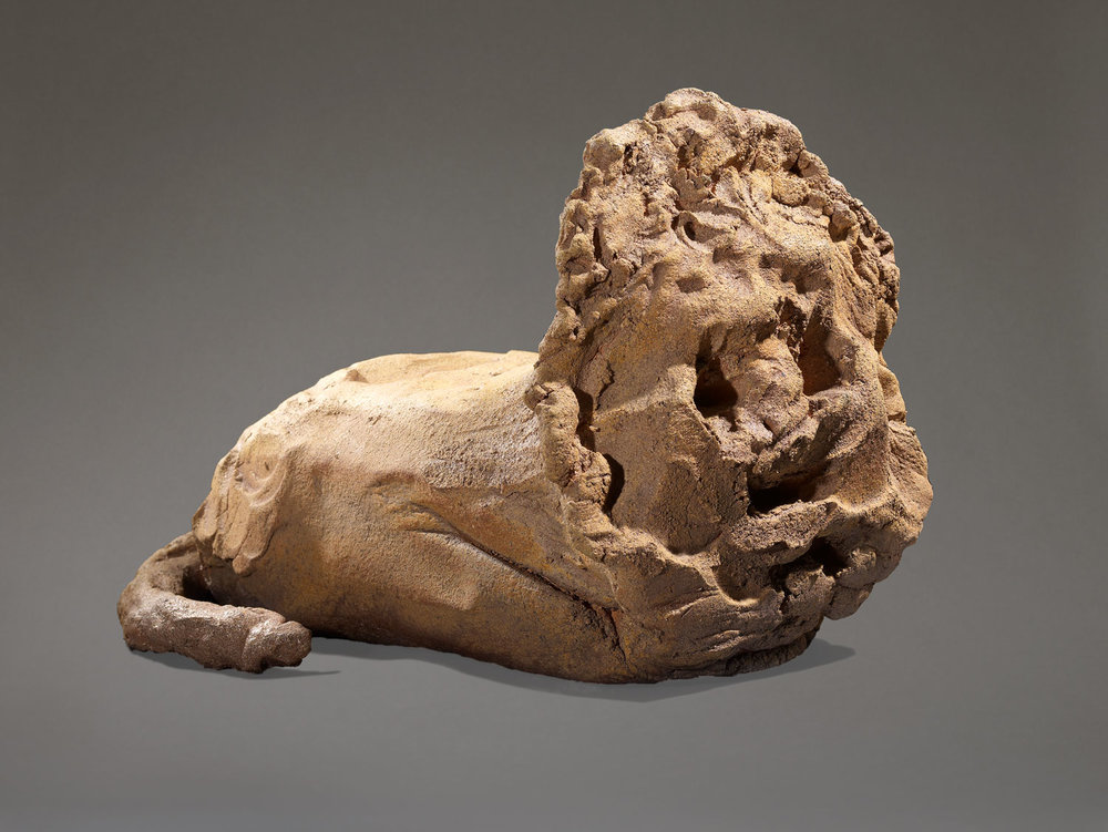 SIMONE FATTAL  THE LION, 2008 43 x 60 x 40 cm, Ceramics / Keramik Courtesy by the artist, Kaufmann Repetto, Galerie Hubert Winter,  Photo: François Hernandez