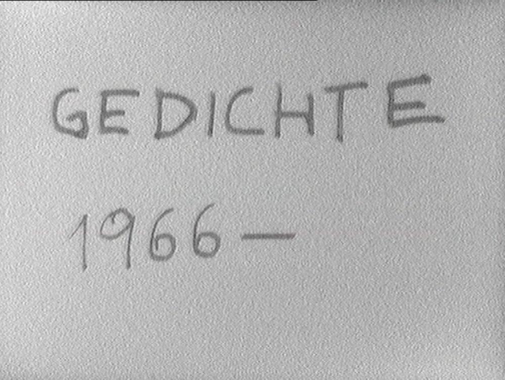 VALIE EXPORT  GEDICHTE, 1966-1980 Videostill, Video, Ton, 8', Sickpack Film