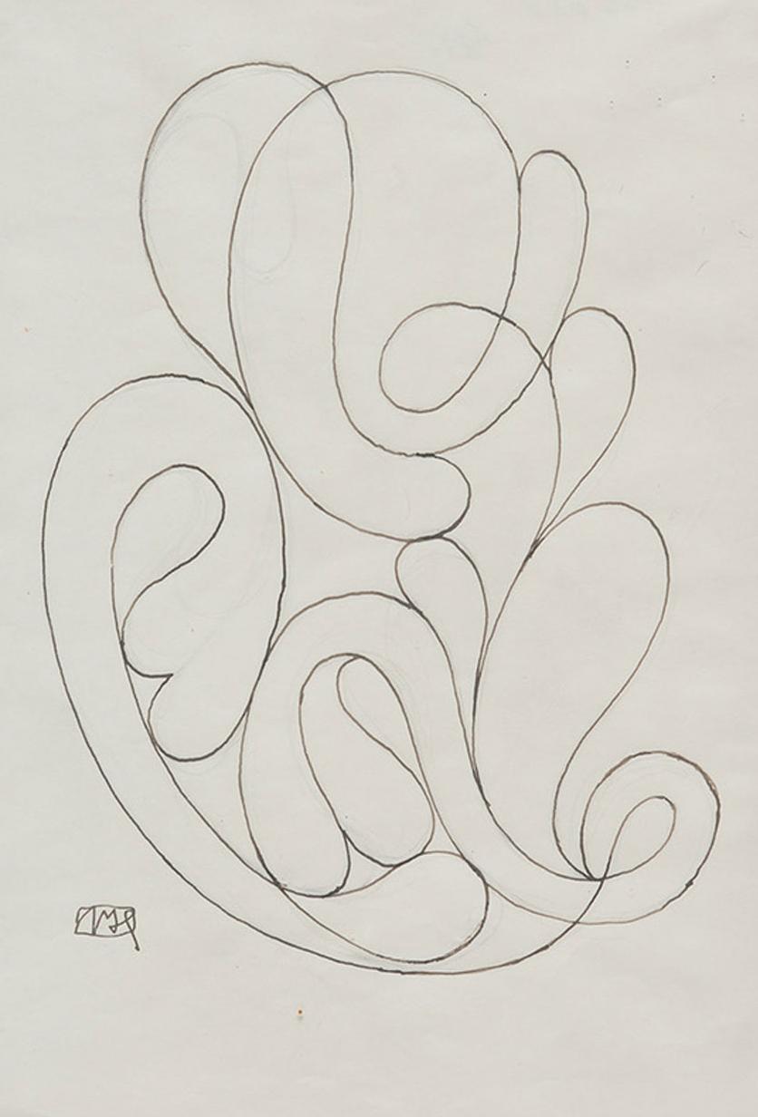 JOSEF HOFFMANN  OHNE TITEL (ORNAMENT), UNDATIERT Bleistift, Tinte auf Papier, 29,5 x 21 cm