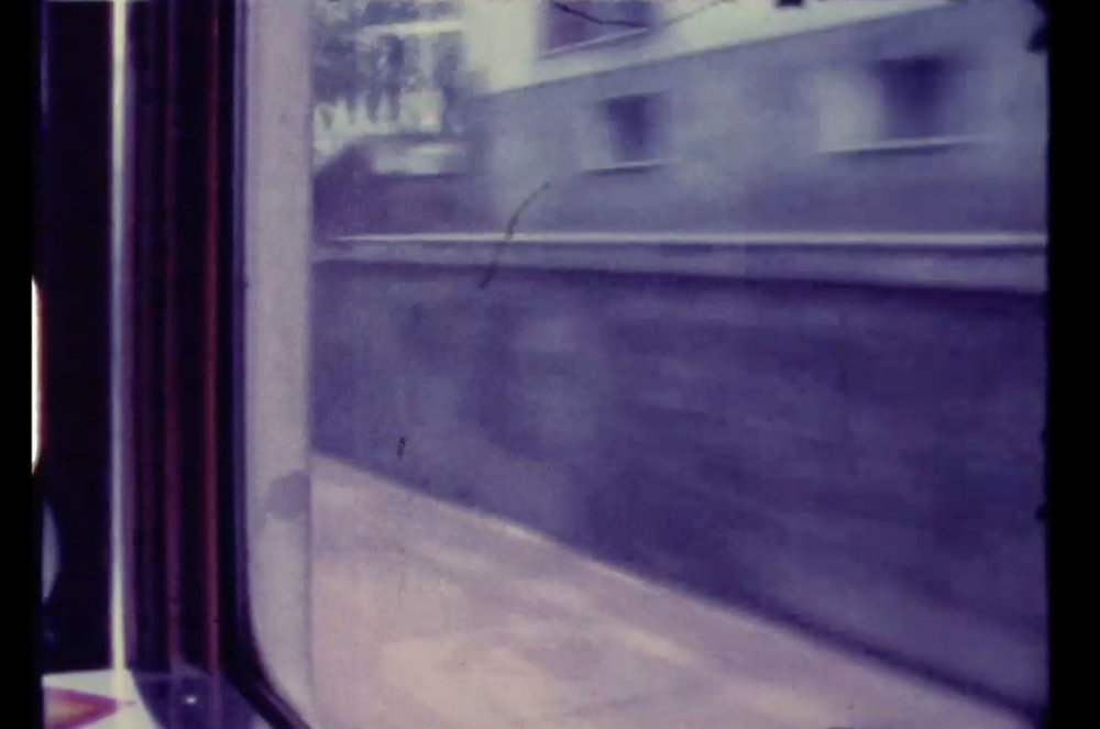 NIL YALTER  ORIENT EXPRESS (PARIS-ISTANBUL), 1976 Filmstill, 8 mm-Film, Farbe, 14' 30''