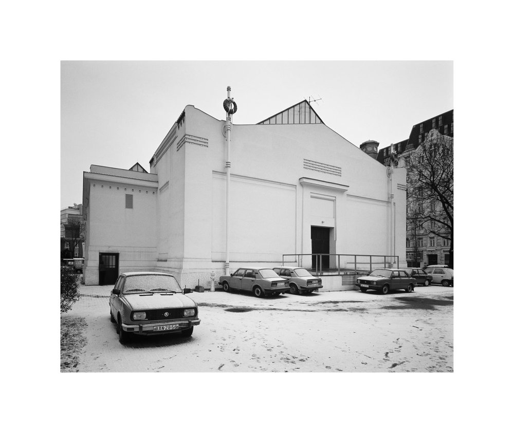ROMAN ONDÁK  SK PARKING, 2001 One of a series of 5 b/w photographs, mounted on dibond / 5-teilige S/W- Fotografie-Serie, Alu-Dibond each / je 71,6 x 85 cm Courtesy Galerie Martin Janda, Vienna / Wien