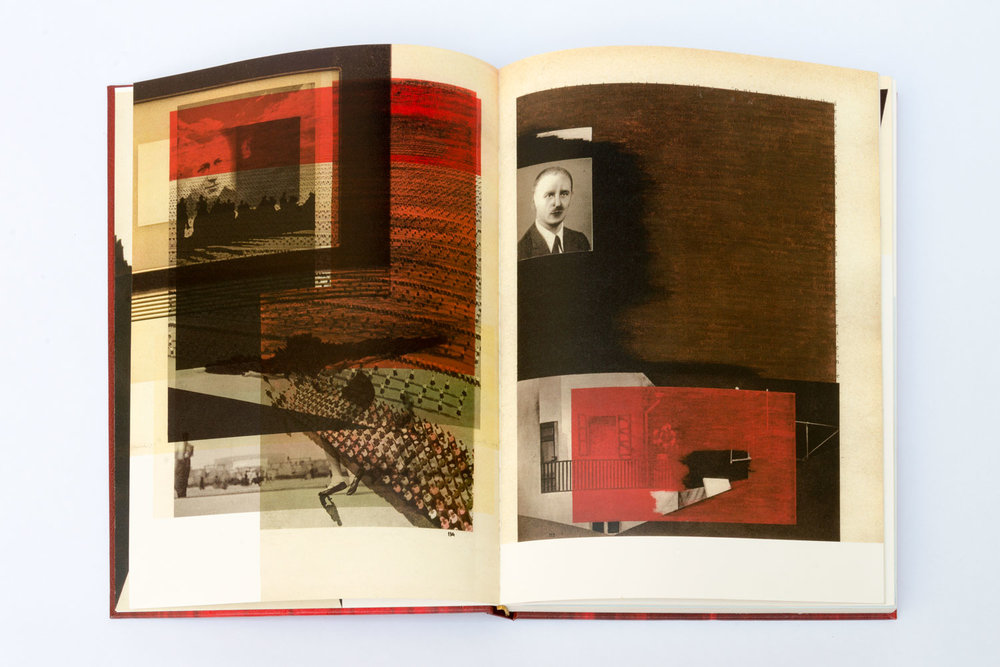 SVÄTOPLUK MIKYTA  ZEITGEISTLOS I, 2016–2017 Offset prints collage, book binding 31 x 24 x 3 cm Courtesy of Svatopluk Mikyta,  Photo: Michaela DVORAKOVA
