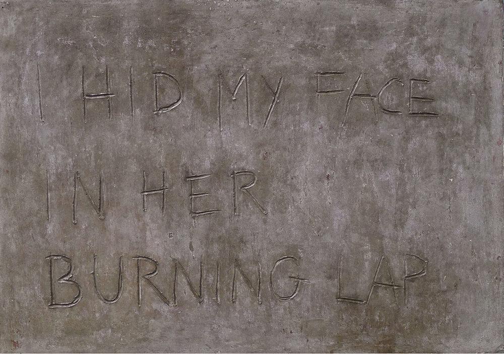 TONI SCHMALE  I HID MY FACE IN HER BURNING LAP, 2014 Concrete / Beton 38 x 55 x 7 cm Courtesy Christine König Galerie, Vienna / Wien and the artist / und die Künstlerin