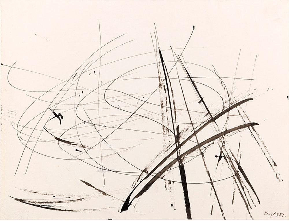 JUDIT REIGL  UNTITLED, 1954 Ink on paper / Tinte auf Papier, 21 x 27 cm, 23,5 x 30 cm, 21 x 27 cm  Photo: Philippe Boudreaux