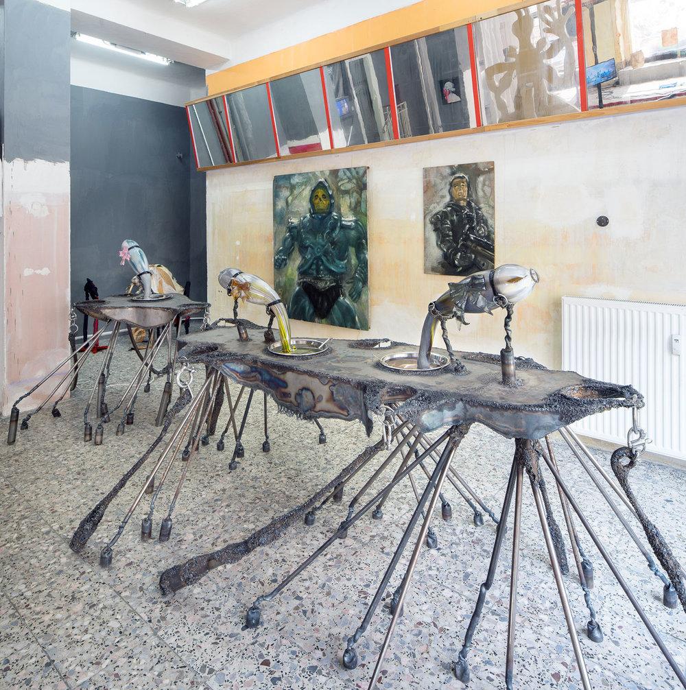JULIE VILLARD & SIMON BROSSARD  IT'S FANTASTIC, 2017 Glass, plastic, metal, tap, dimensions variable Courtesy the artists and PLATO Ostrava,  Photo: PLATO Ostrava
