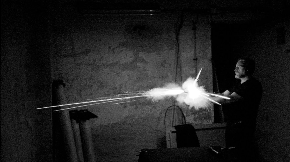 Still of the production of the pyrographies