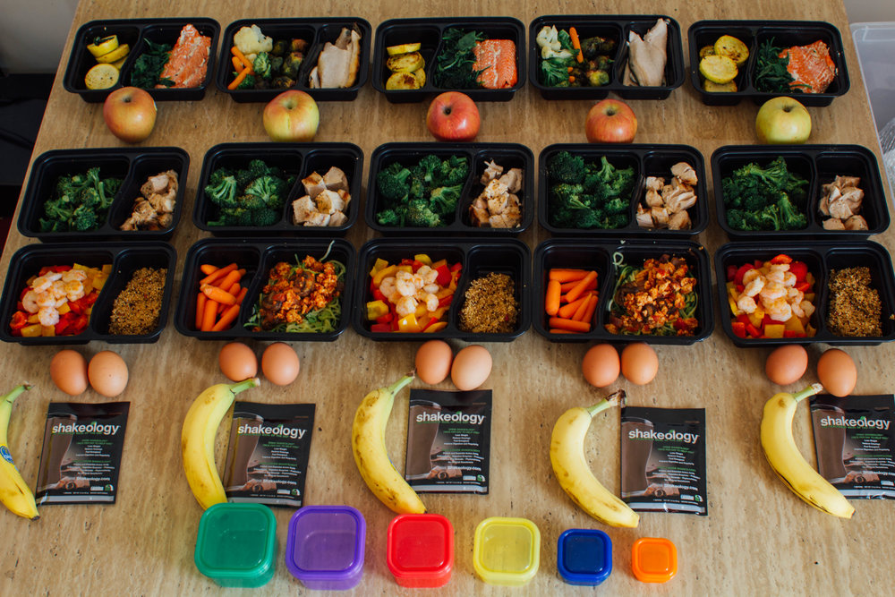 example of finished meal prep, courtesy of www.runningwildblog.com