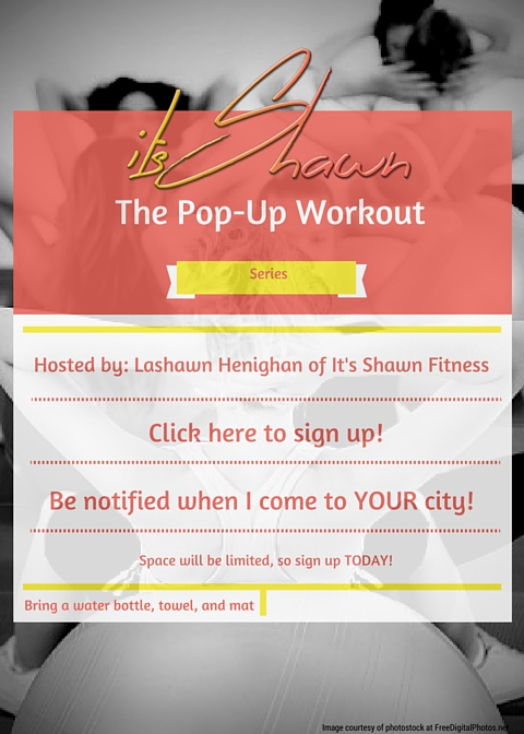 The Pop-Up Workout Series flyer