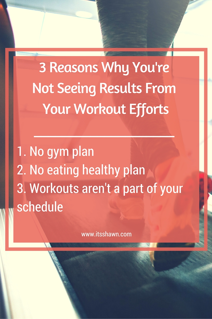 3 Reasons You're Not Seeing Results From Your Workout Efforts