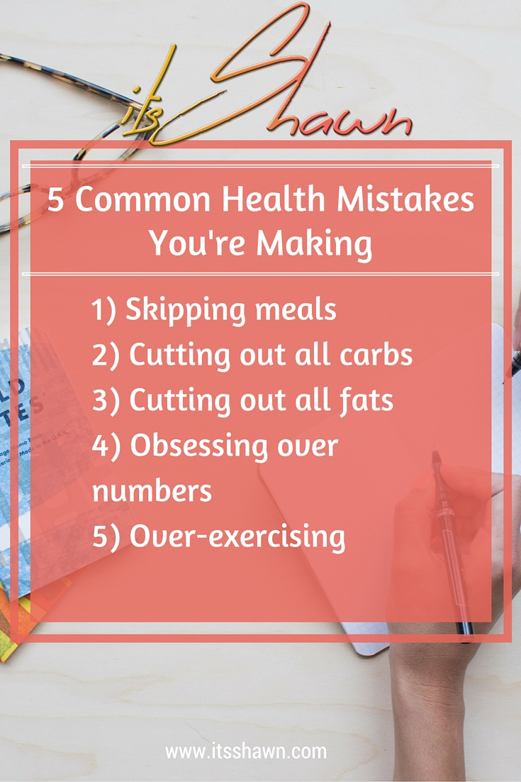 5 Common Health Mistakes You're Making graphic