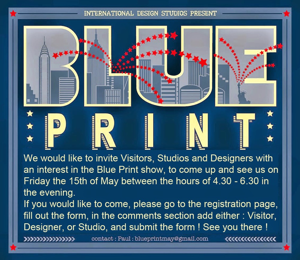 Blue print design show may 2015 blueprint blueprint is a collection of innovative studios and designers putting on their own design show at studio arte 265 west 37th street in new york city from malvernweather Image collections