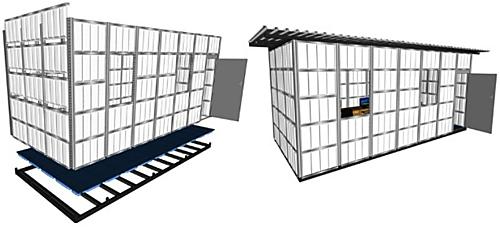 Estrutura Container Impacto