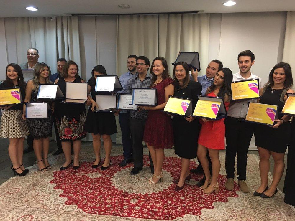 Finalistas da etapa estadual INOVA Talentos e programas de estágio. Primeiros, segundos e terceiros lugares.