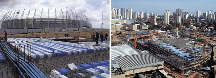 Arena Castelão e Shopping Iguatemi: atuações marcantes da Impacto.