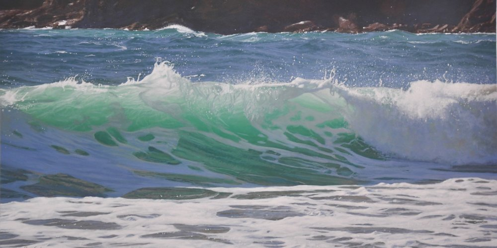 Spring Surf in cornwall Wave Painting