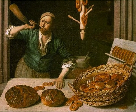 The Baker (c. 1681) by Job Adriaensz Berckheyde (1630-1693) now held by the Worcester Art Museum.