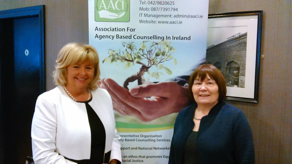 AACI Conference -The two key note speakers at the AACI conference:- Senator Mary Moran who is the Seanad Spokesperson on Education, Disability, Mental Health & Equality and Ms. Norah Gibbons who is the Chairperson of Tusla/Child & Family Agency who fund and support our sector.