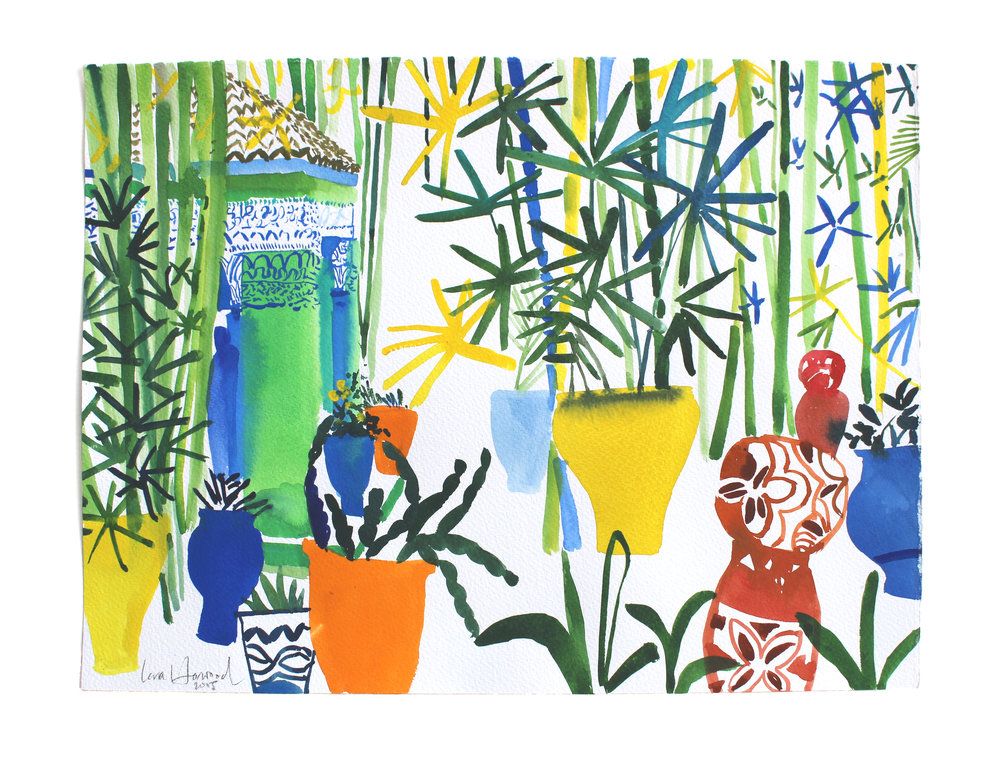 Majorelle Gabzibo 2015   Sold    now available as an Archival Print     £135 at28 × 38 cm