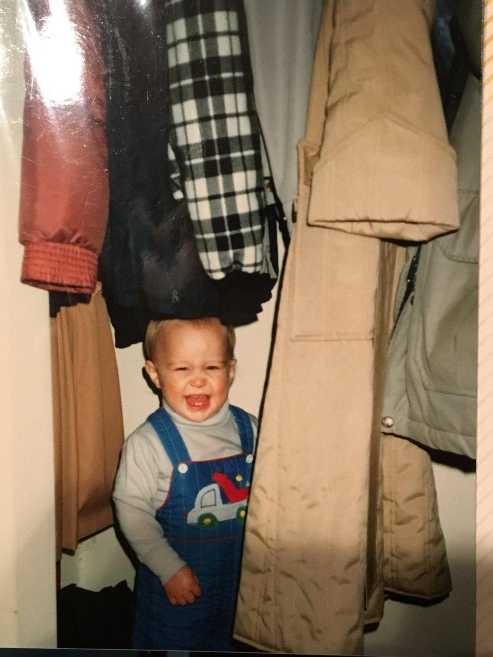 Paul in the closet.JPG