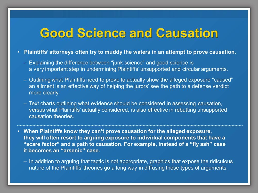 Good Science and Causation