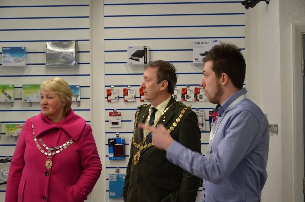 Mayor visit on opening day