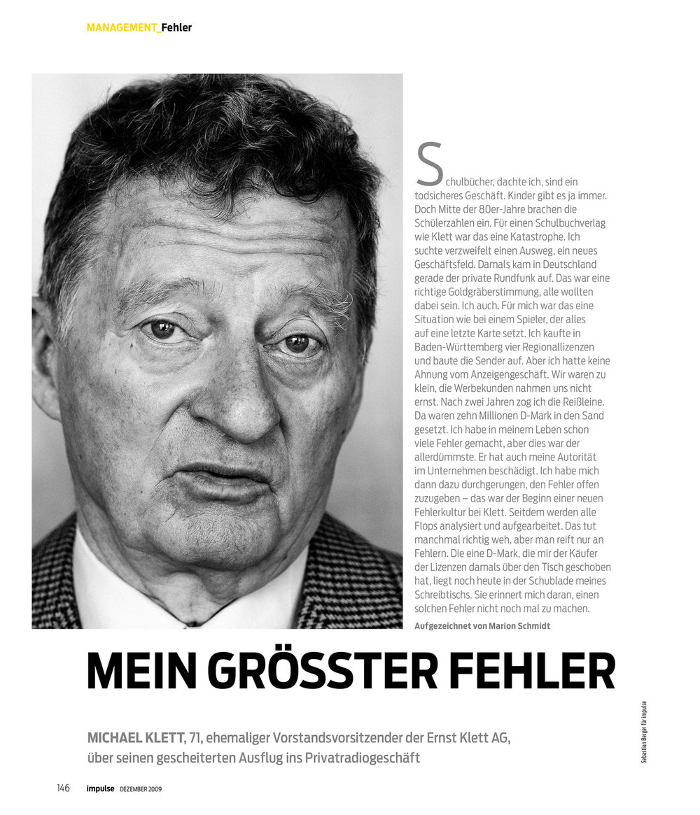 Verleger Michael Klett , Impulse Magazin