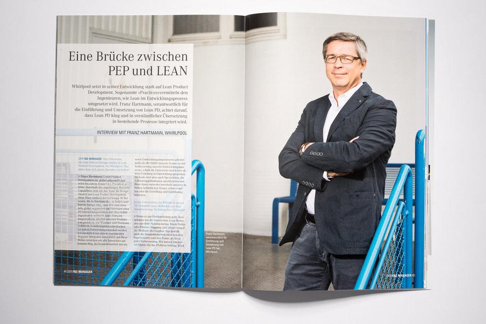 Franz Hartmann  Whirlpool/Bauknecht, F&E Manager Magazin