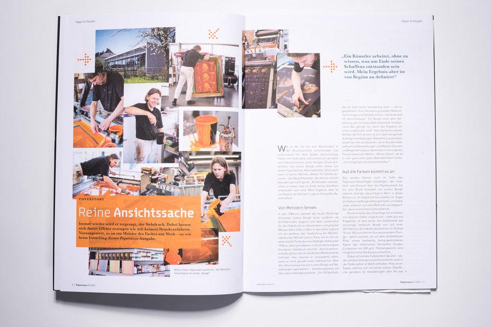 Lorenz Boegli  Atelier für Siebdruck, Paperazzo Magazin