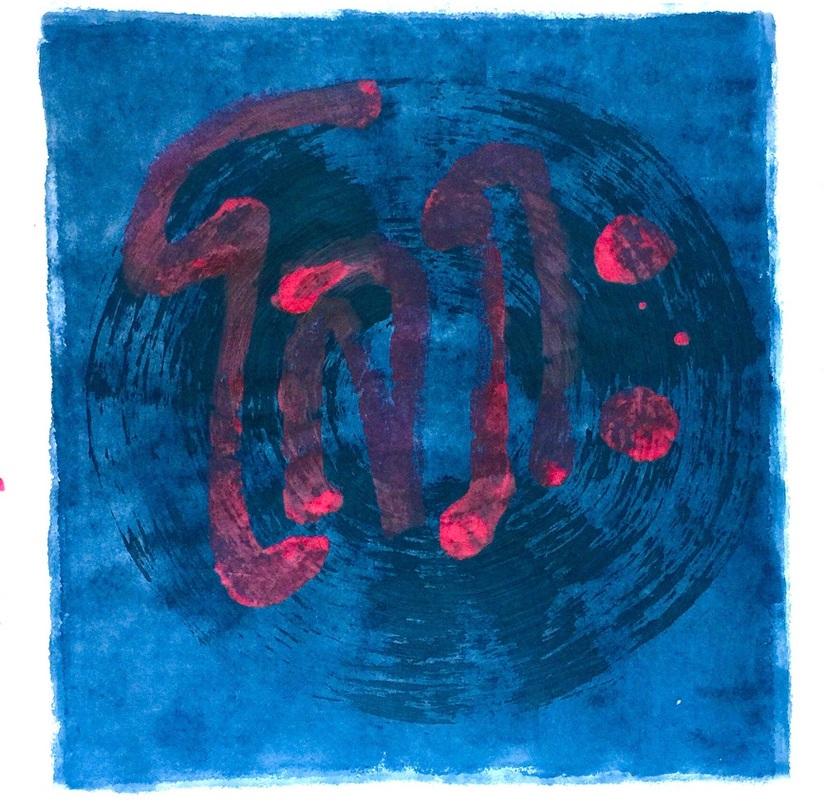 "Vichai Chinalai   Lopha  (Greed), 2019.  Acrylic paint on handmade paper.  26"" x 39"""