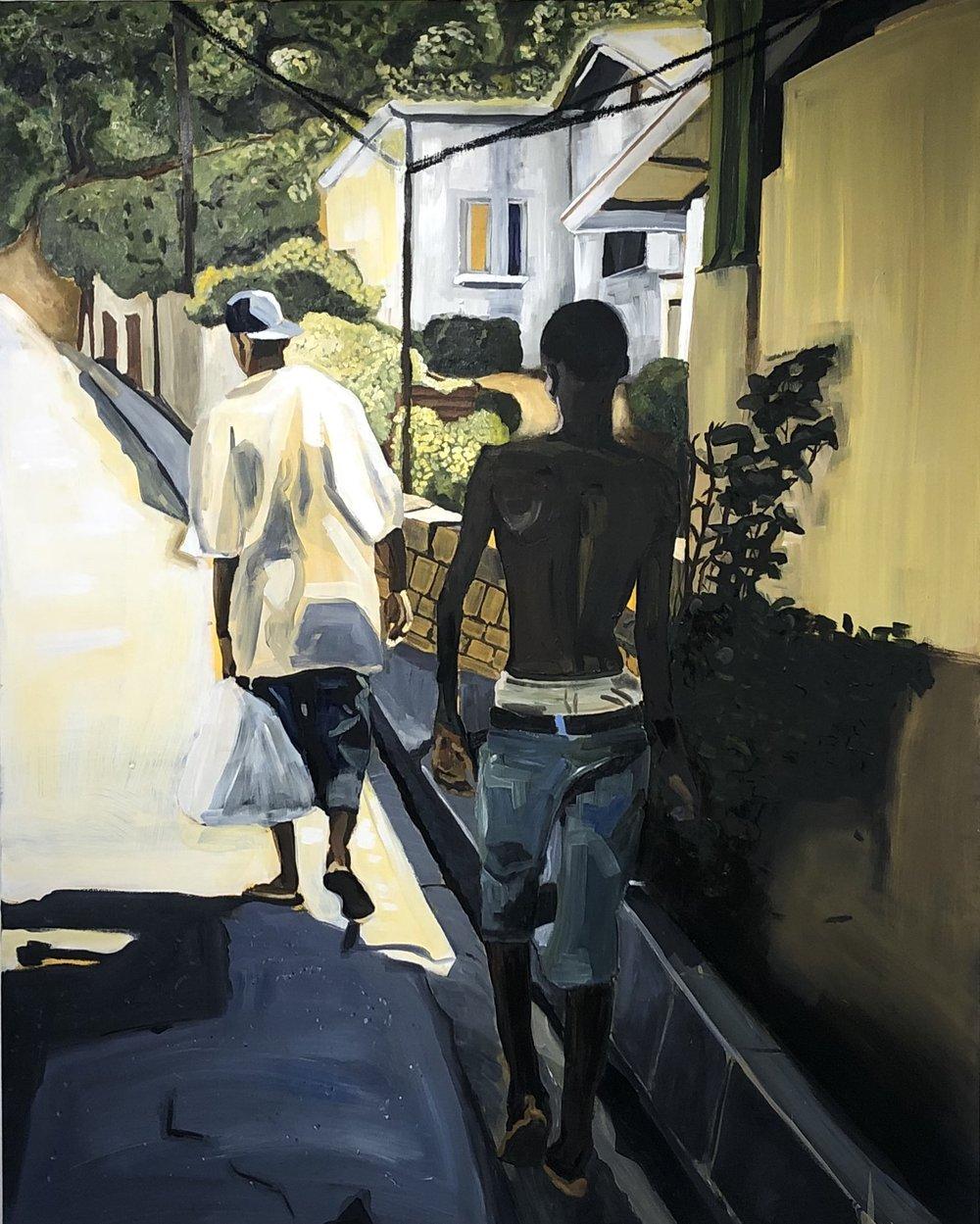 "Vive y Aprende   60"" x 48""  Oil on canvas  2019"