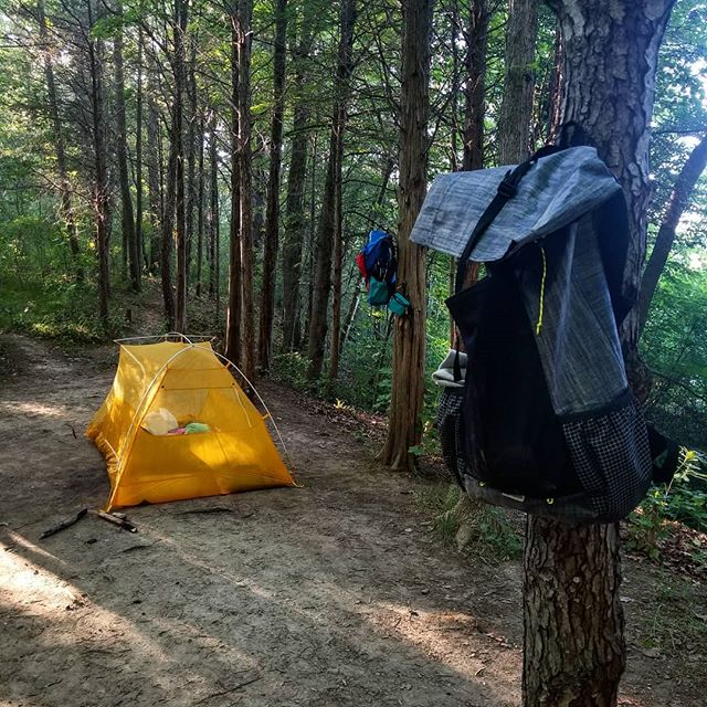 Happy little campsite . . . . #hike #camping #backcountry #outdoors  #adventure #explore #wilderness #lightenup #exploremore #ultralightbackpacking #camp #lifeofadventure #greatoutdoors #neverstopexploring #takelessdomore #seekthetrails #wildernessculture #optoutside #getoutside #exploreeverything #nature #everytrailconnects #backpacking #ultralight