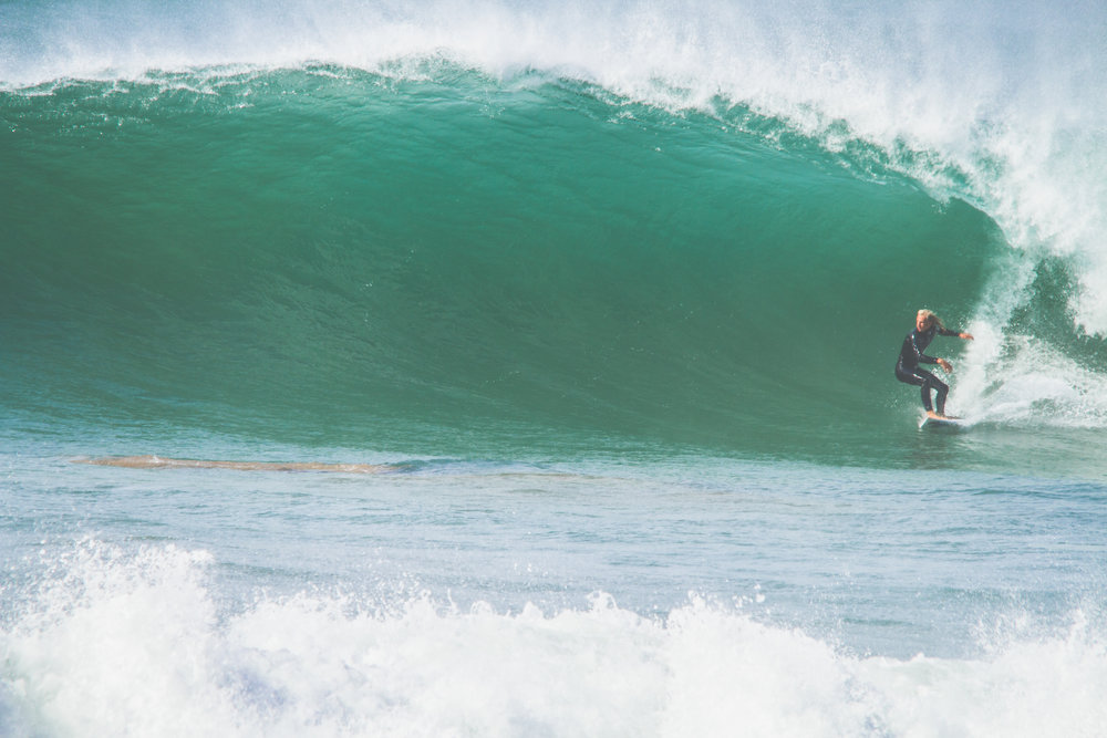 Luke Dawson pulls into a Monster at Banana Point, Tamraght