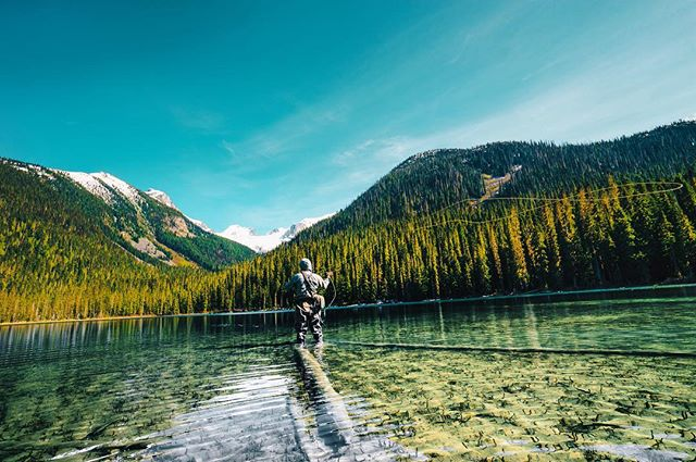 Fly fished Joffre Lakes! 🇨🇦❤️ didn't catch anything but froze my feet off 😂🏞👏 #flyfishing #hellobc #outdoorsman