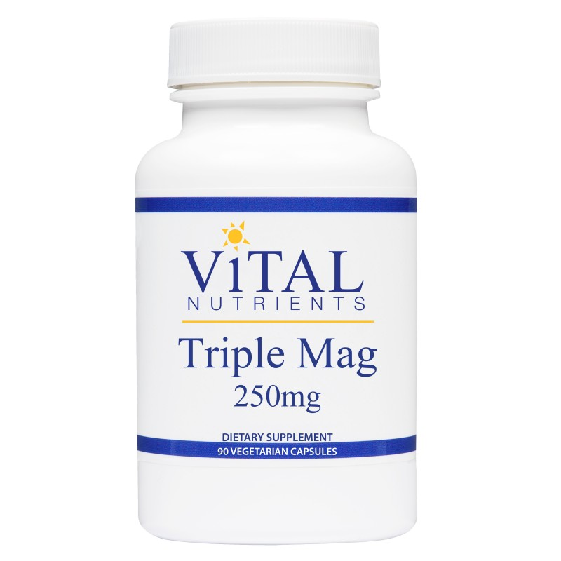 Vital Nutrients Triple Mag - This is the form of magnesium I take every day. I would double up to 600mg, or even 800mg per day if I'm stressed, or when I'm traveling (also a form of stress).